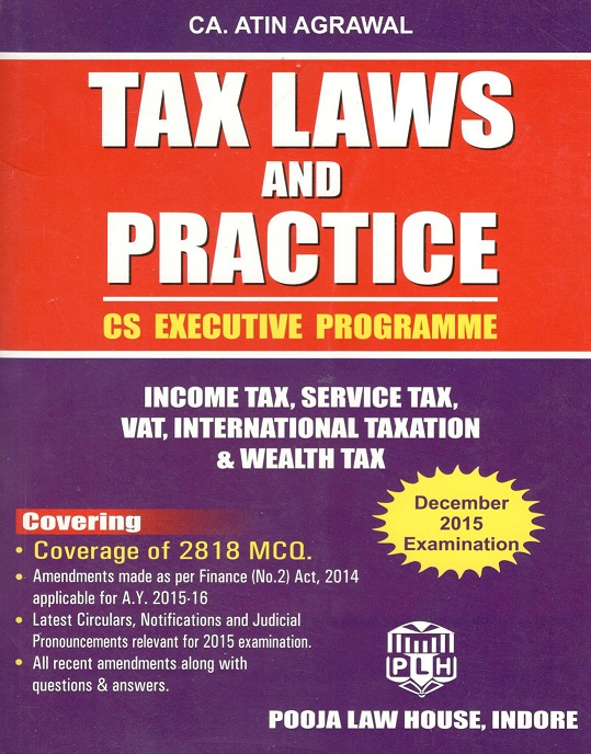 Buy Tax Laws and Practice for CS Executive Programme