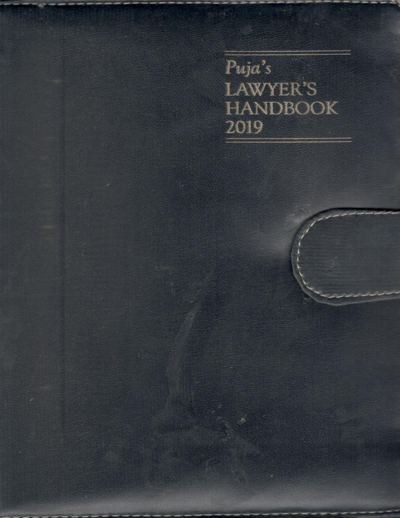 Buy Puja's Lawyers Handbook with Diary 2019 Medium Size (3 Number) Deluxe Edition