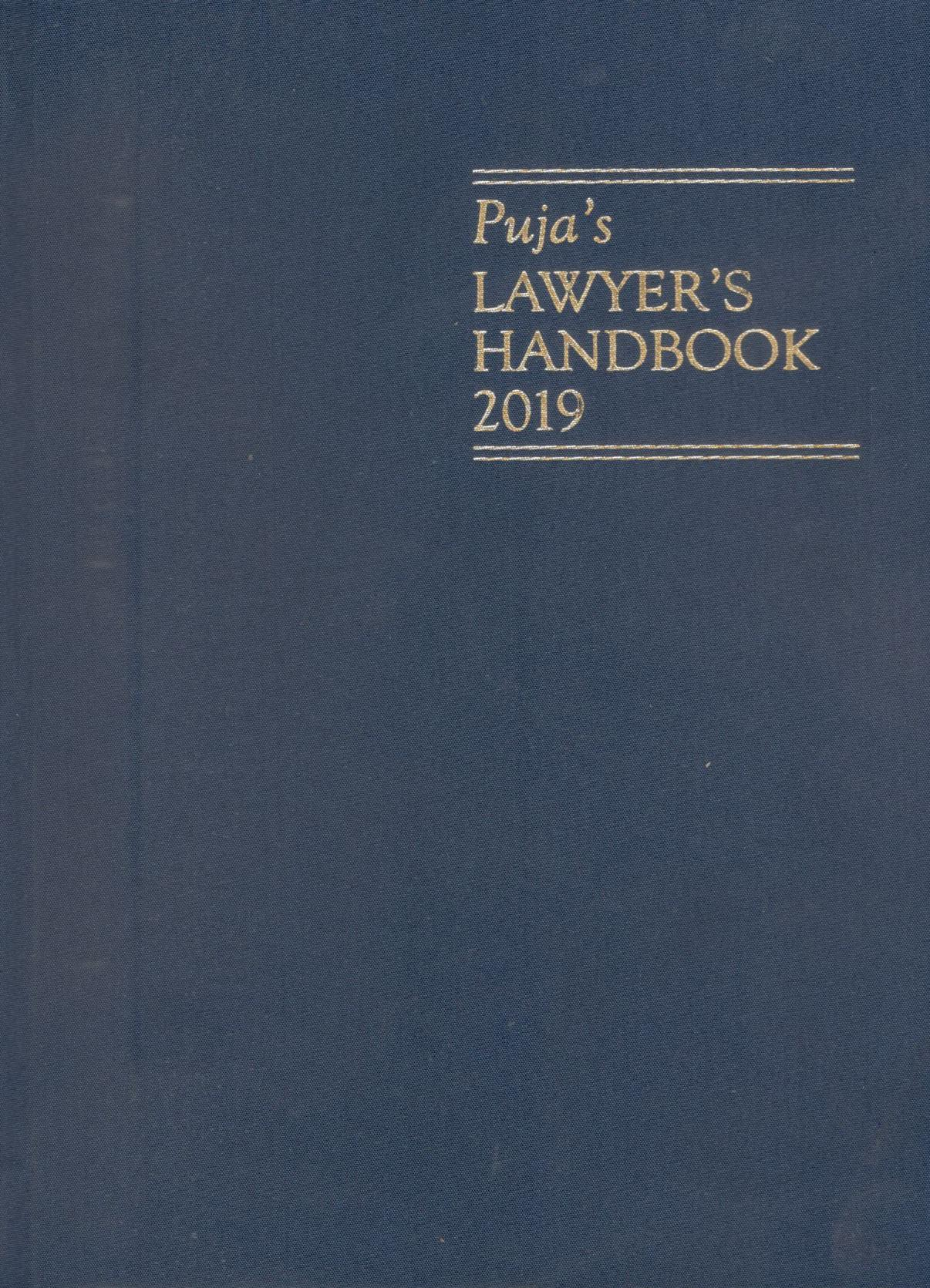 Buy Puja's Lawyers Handbook with Diary 2019 Medium Size (2 Number) Hardbound