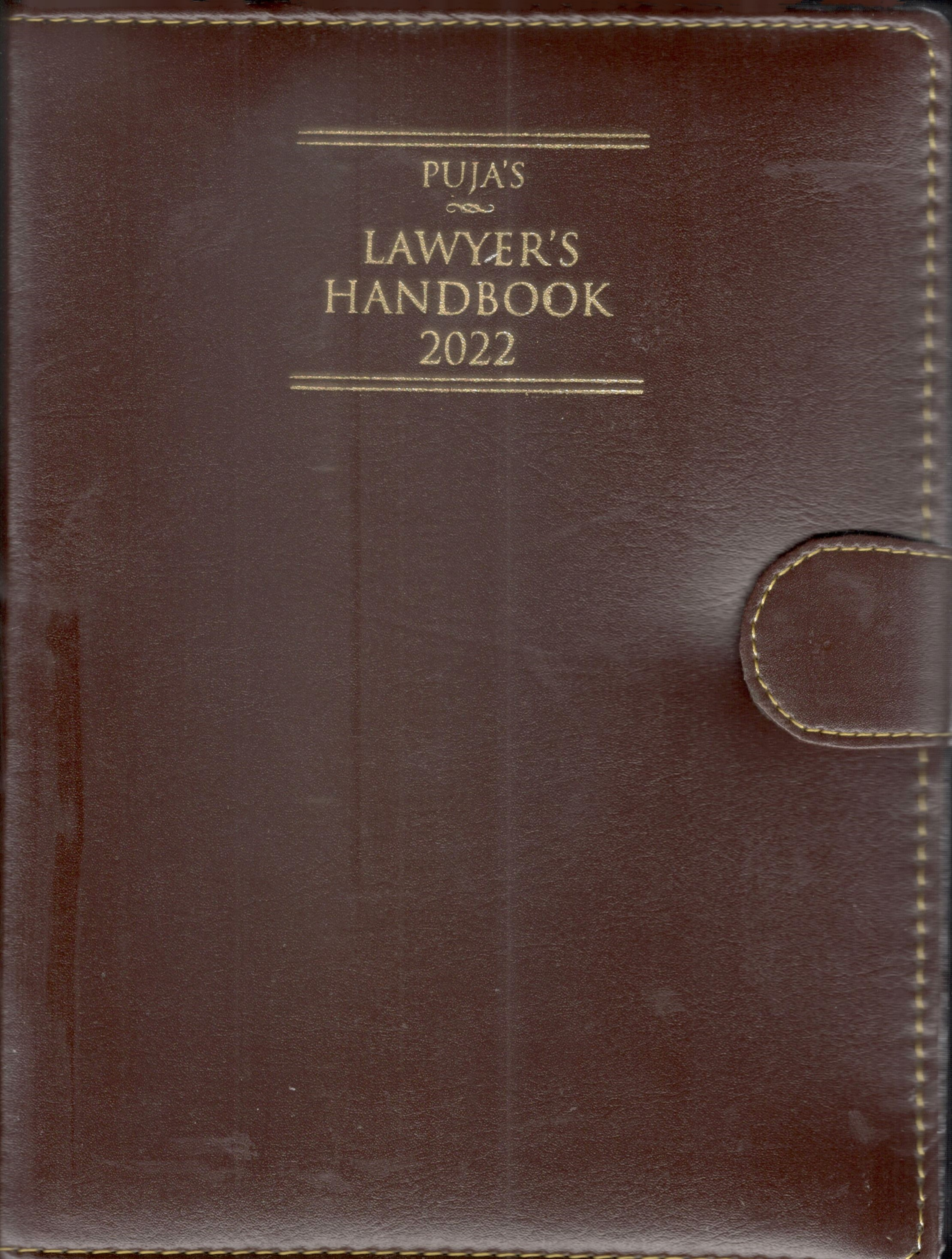 Puja's Lawyer's Handbook 2022 - Brown Executive Big Size with Button