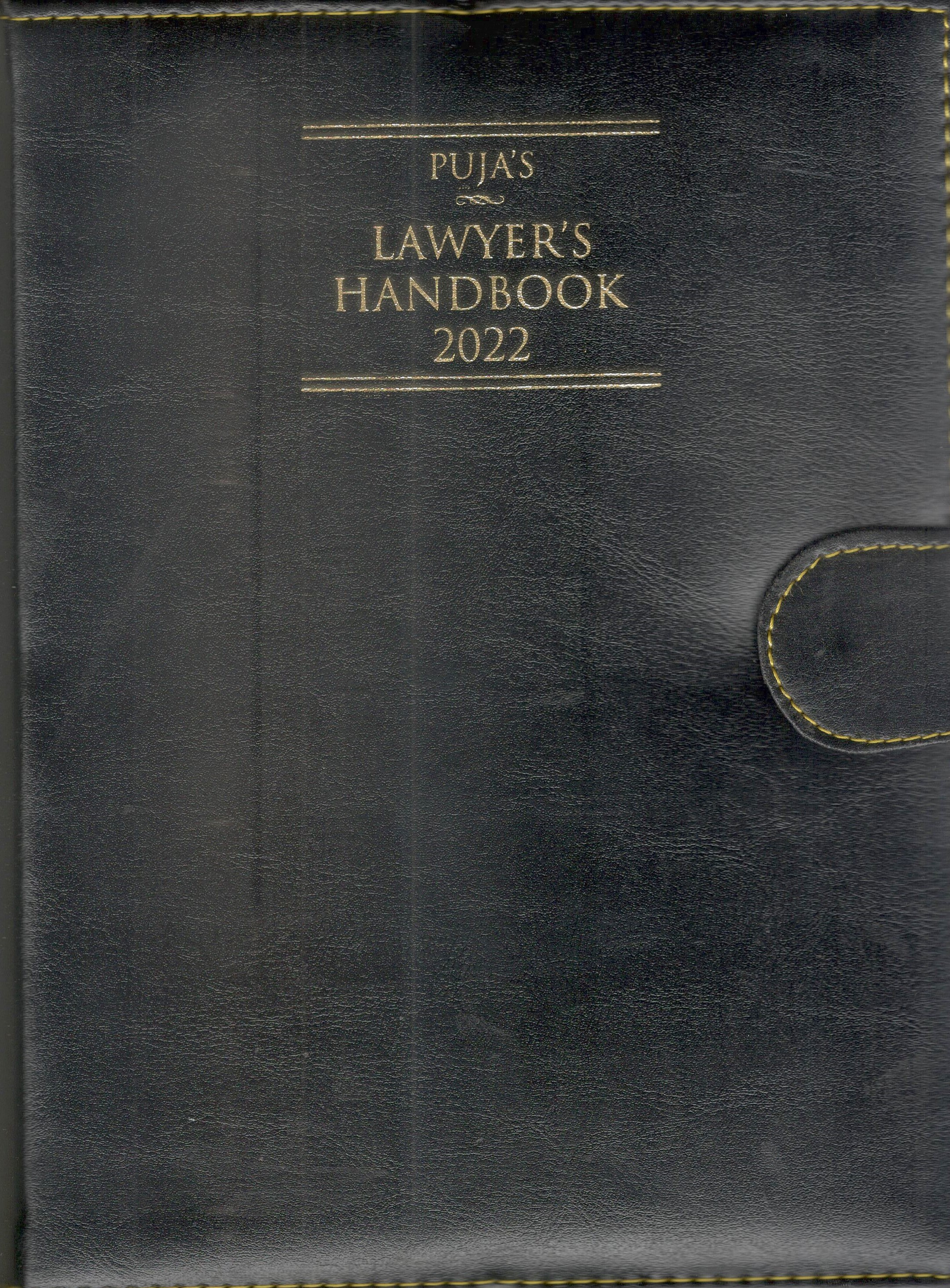 Puja's Lawyer's Handbook 2022 - Black Executive Big Size with Button